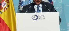 معالي القائم بأعمال وزير المياه والبيئة م :توفيق الشرجبي اثناء إلقاء كلمة اليمن في مؤتمر الاطراف COP25 مدريد – اسبانيا