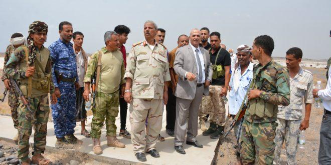 الوزير الشرجبي والمحافظ التركي يتفقدان مشاريع المياه والصرف الصحي في لحج