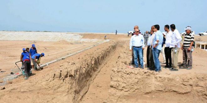 الشرجبي يطلع على سير العمل بمشروع إعادة تأهيل محطة معالجة الصرف الصحي في عدن
